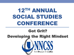 12 th  Annual  Social Studies conference