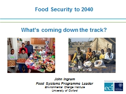 Food  Security  to  2040