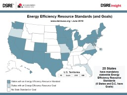Energy Efficiency Resource Standards (and Goals)