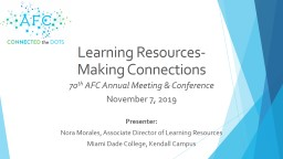Learning Resources-  Making Connections