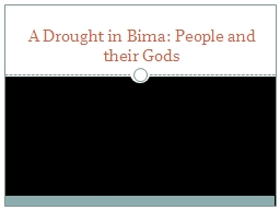 A Drought in  Bima : People and their Gods