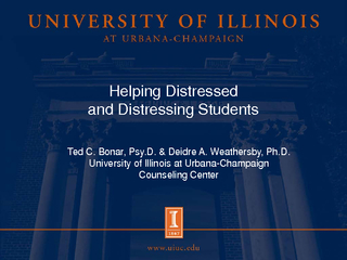 Helping Distressed and Distressing Students Ted C