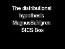 The distributional hypothesis MagnusSahlgren SICS Box