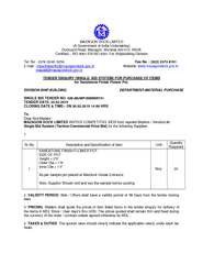 MAZAGON DOCK LIMITED A Government of India Undertaking