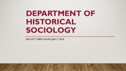 Department  of   Historical