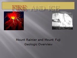 Fire  and Ice Mount Rainier and Mount Fuji