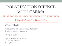 Polarization science with