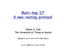 Multi-hop DT A new routing protocol