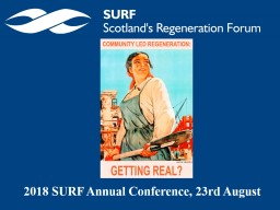 2018 SURF Annual Conference, 23rd August