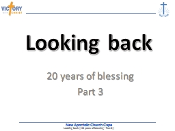 20 years of blessing Part