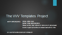 The VVV Templates Project
