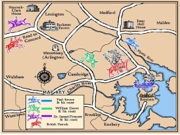 THE MIDNIGHT RIDE In 1774 and the Spring of 1775