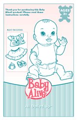 Thank you for purchasing this Baby Alive product Pl