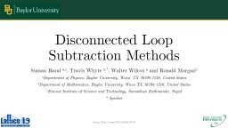Disconnected Loop Subtraction Methods