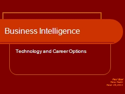 Business Intelligence Technology and Career Options