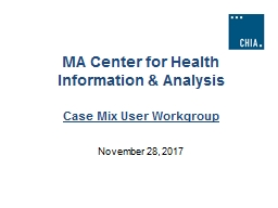 MA Center for Health Information & Analysis