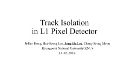 Track Isolation  in L1 Pixel Detector
