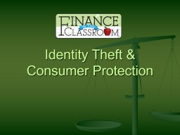 Identity Theft & Consumer Protection