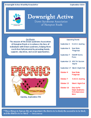 and NLQG Downright Active Monthly Newsletter September