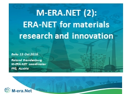 M-ERA.NET  (2): ERA-NET for materials research and innovation