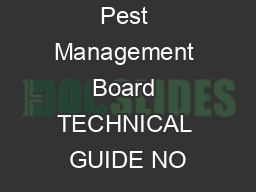 Armed Forces Pest Management Board TECHNICAL GUIDE NO