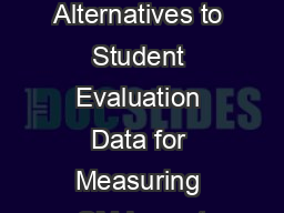 Outfoxing Dr. Fox:  Alternatives to Student Evaluation Data for Measuring QM Impact