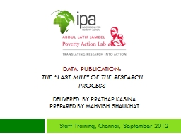 """Data Publication: The """"Last Mile"""" of the Research Process"""