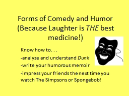 Forms of Comedy and Humor