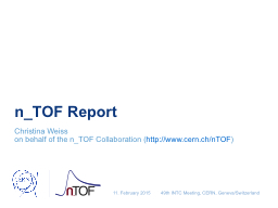 n_TOF  Report Christina Weiss