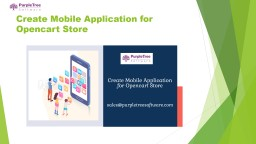 Create Mobile Application for Opencart Store