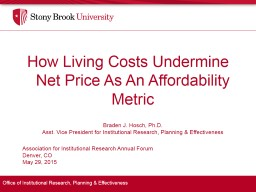 How Living Costs Undermine Net Price As An Affordability