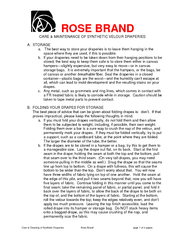 ROSE BRAND Care  Cleaning of Synthetic Draperies Rose