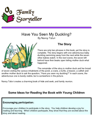 Have You Seen My Duckling By Nancy Tafuri The Story Th