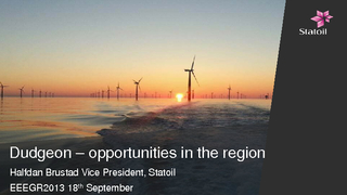 Dudgeon opportunities in the region Halfdan Brustad Vi