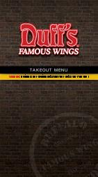 TAKEOUT MENU  duffs famous wings Served with crispy ce