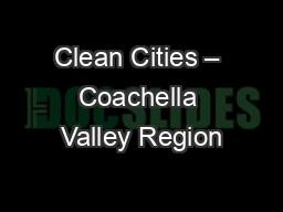 Clean Cities – Coachella Valley Region