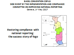 BASEL CONVENTION COP-13 SIDE EVENT BY THE IMPLEMENTATION AND COMPLIANCE COMMITTEE ON IMPROVING NATI