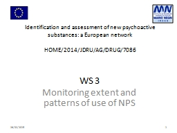 Identification  and assessment of new psychoactive substances: a European