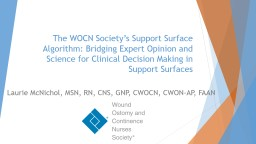The WOCN Society's Support Surface Algorithm: Bridging Expert Opinion and Science for Clinical De