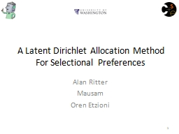 A Latent  Dirichlet  Allocation Method For