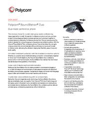 DATA SHEET Polycom SoundStation Duo Dualmode conferenc