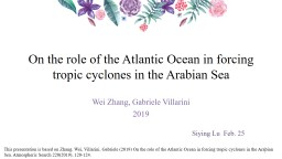 On the role of the Atlantic Ocean in forcing tropic cyclones in the Arabian Sea