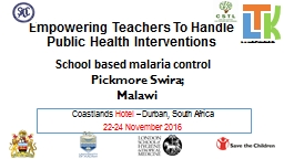 Empowering Teachers To Handle Public Health Interventions