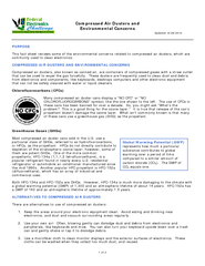 Compressed Air Dusters and Environmental Concerns Upda