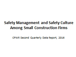 Safety Management and  Safety