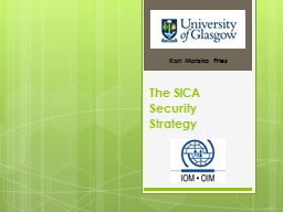 The SICA Security Strategy