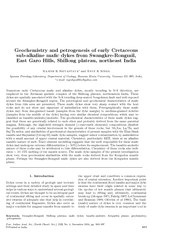 Geochemistry and petrogenesis of early Cretaceous suba PowerPoint PPT Presentation