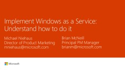 Implement Windows as a Service: