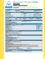 aterial S afety D ata S heet MSDS Strippers         Pr