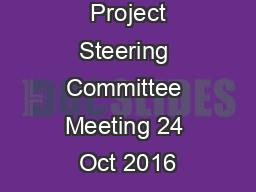 SAWEP 2 1 st  Project Steering Committee Meeting 24 Oct 2016